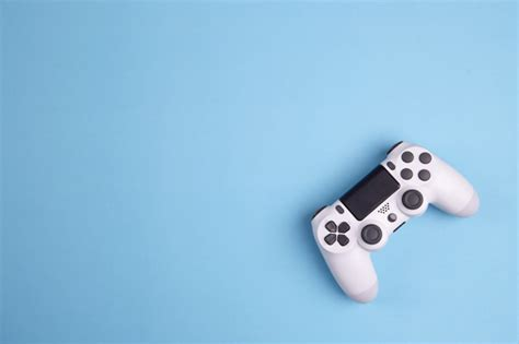 joystick gaming controller isolated  blue background