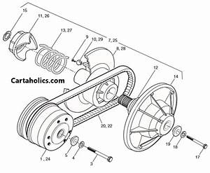 Yamaha Golf Cart Driven Clutch Diagram