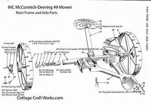 Ihc Mower Main Frame-axle Parts
