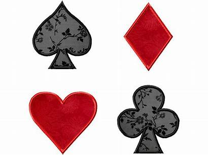 Playing Cards Card Suits Pack Four Gold