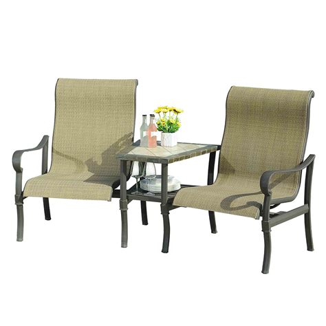 shop sunjoy patio dining set at lowes