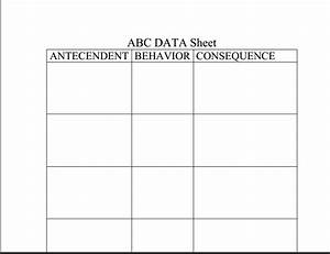 abc chart to chart antecedent behavior consequence With abc chart behaviour template