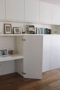 Ikea Rangement Chambre : un bureau discret et beaucoup de rangement ikea metod rangement ikea decor 39 s ~ Teatrodelosmanantiales.com Idées de Décoration