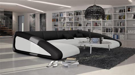 canapé forme u canapés d angle cuir mobilier cuir