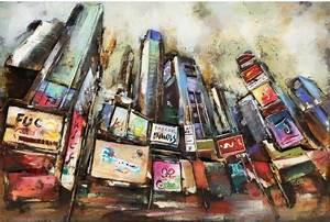 Tableau Metal En Relief : tableau m tal 3d city new york d co m tallique ~ Teatrodelosmanantiales.com Idées de Décoration