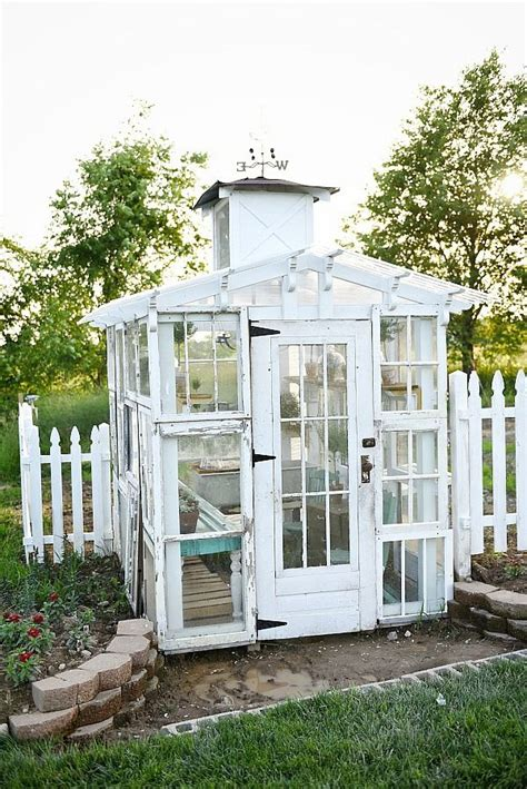 Great diy idea for making a greenhouse out of old windows. DIY Window Greenhouse | Window greenhouse, Greenhouse ...