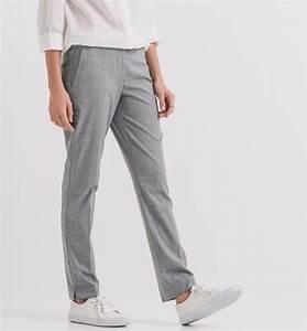 Pantalon a carreaux femme gris pantalons femme promod for Pantalon carreaux femme