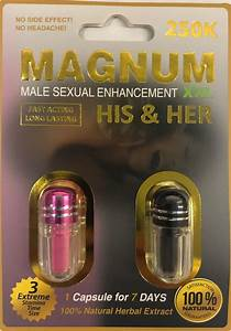 Magnum 250k His And Her Sexual Supplement Enhancement Pill
