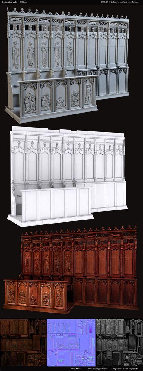 Gothic choir stalls asset by amaterasu111 Gothic windows