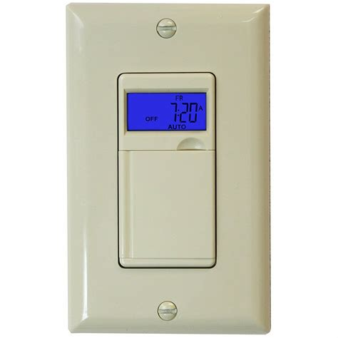 7 day digital programmable timer light switch for motors