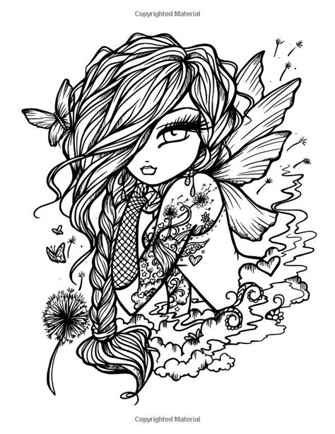 Pin by Mamalisamarie on Hannah lynn | Skull coloring pages, Fairy coloring pages