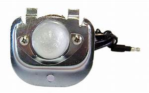 License Plate Bulb Housing W  Lens  U0026 Wiring Pigtail