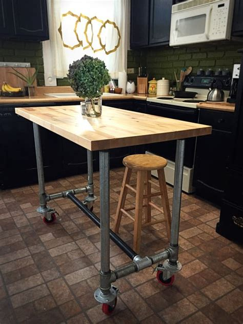 movable butcher block kitchen island 25 industrial kitchen islands to make a statement digsdigs 7044
