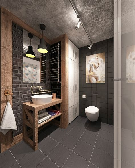 51 Industrial Style Bathrooms Plus Ideas & Accessories You
