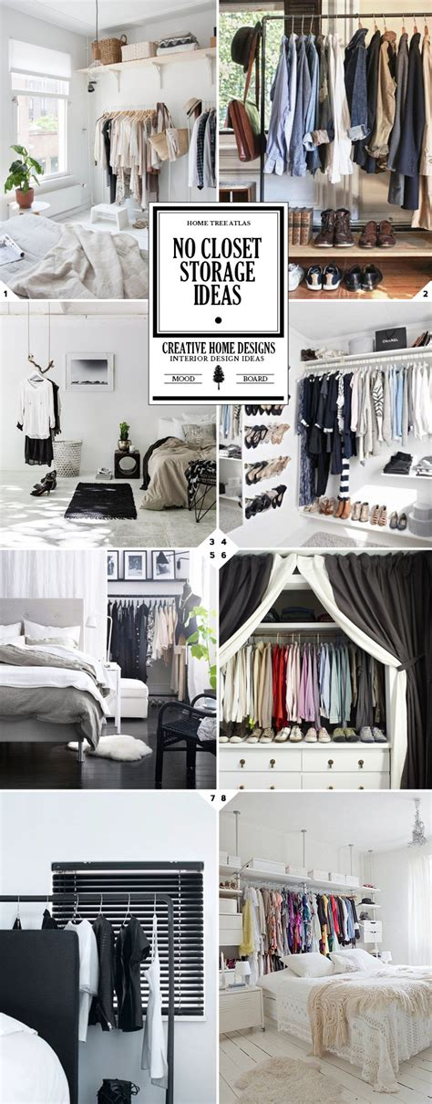 getting creative no closet solutions and storage ideas