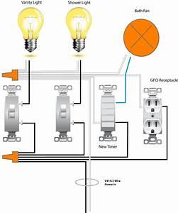 Wiring a bathroom exhaust fan and light pinterdor