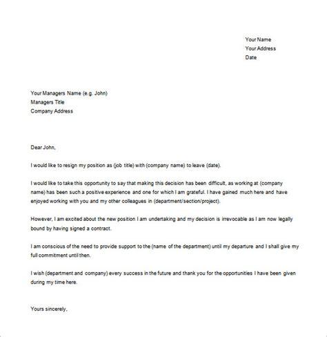 resignation letter  boss template   write