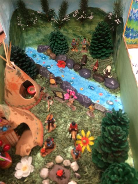 indian diorama  images native american projects