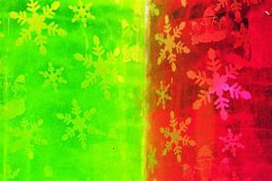Red And Green With A Snowflake Pattern Photograph by ...
