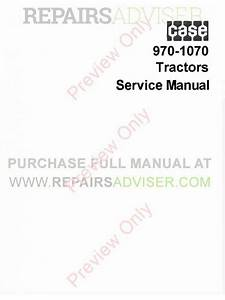Case 970 And 1070 Tractors Service Manual Pdf Download
