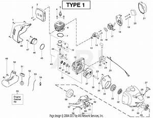 Poulan Pp258tp Pole Pruner Type 1 Parts Diagram For Engine Type 1