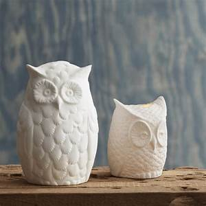 porcelain owl tea light holders eclectic by burke decor With kitchen colors with white cabinets with himalayan rock salt candle holder