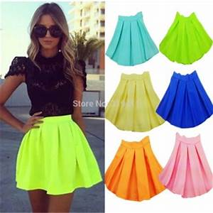 Hot Sale Fashion New 2014 Neon Skirts For Women High Waist