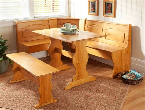 Kitchen Nook Corner Dining Breakfast Set Table Bench Chair