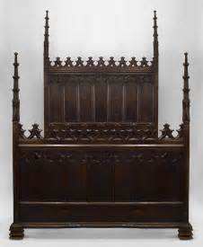 19th c gothic revival full size walnut bed for sale at