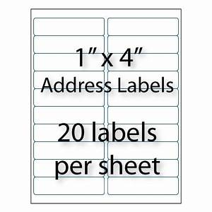 address labels 4quot x 1 quot 20 up averyr 5161 5961 With avery labels 1 x 4 20 per sheet