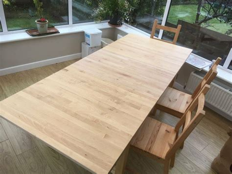 ikea extendable norden dining table  birch  skogsta