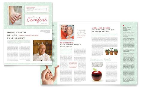 Home Design Ideas For Seniors by Senior Care Services Newsletter Template Design