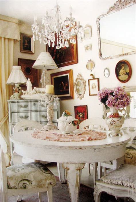 Shabby Chic Dining Room Chair Cushions by 35 Beautiful Shabby Chic Dining Room Decoration Ideas