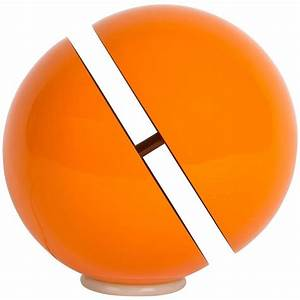 Floor lamp design andrea modica sfera orange metal at for Orange metal floor lamp