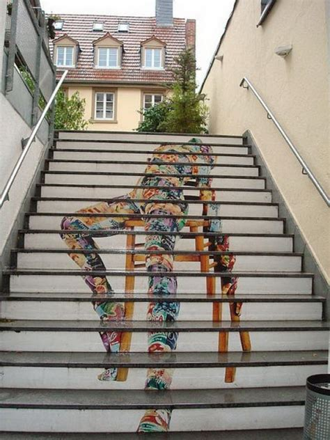 awesome stairs street art hative