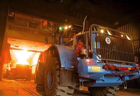 volvo lgs   cool  molten steel mill
