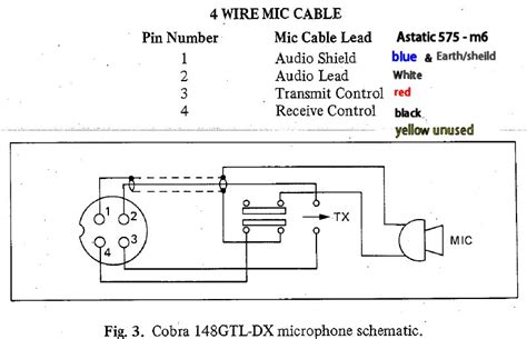 Cb Mic Wiring by Mic Wiring Diagram For Astatic 575 M6 To Cobra Speckog
