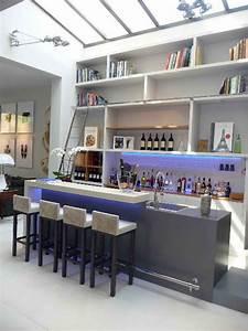 Bar De Salon Moderne : bar en b ton pour h tel particulier moderne bar de salon paris par concrete lcda ~ Teatrodelosmanantiales.com Idées de Décoration