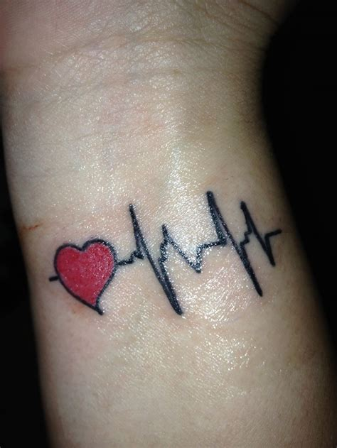heartbeat wrist tattoo designs ideas  meaning