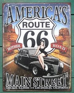 Garage Route 66 : route 66 america 39 s main street pinup tin sign vintage garage bar wall decor 1957 ebay ~ Medecine-chirurgie-esthetiques.com Avis de Voitures