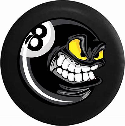 Ball Cartoon Angry Billiards Poolball Transparent Eight