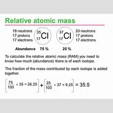 Isotope And Relative Atomic Mass  Physical Sciences Break 10