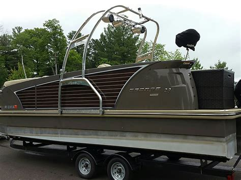 Wakeboard Tower Pontoon Boat by Wakeboard Tower For Pontoon Boats This Is How You Can