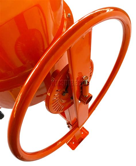 foxhunter 550w 120l drum portable electric concrete cement mixer mortar plaster ebay