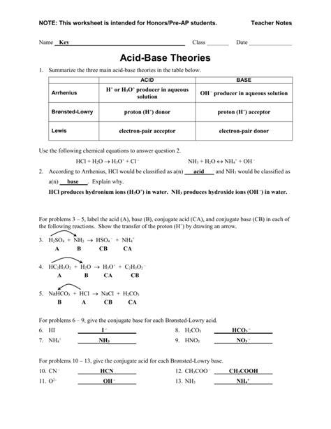 Worksheets Acids And Bases Worksheet Answers Plantsvszombiesonline Free Worksheets For Kids