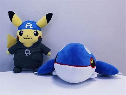 Team Pokemon Plushies Rainbow Pikachu Rocket Kyogre