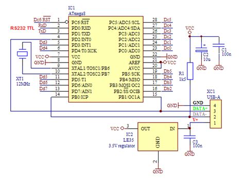 Serial Usb Home Made Using Atmega Electronics