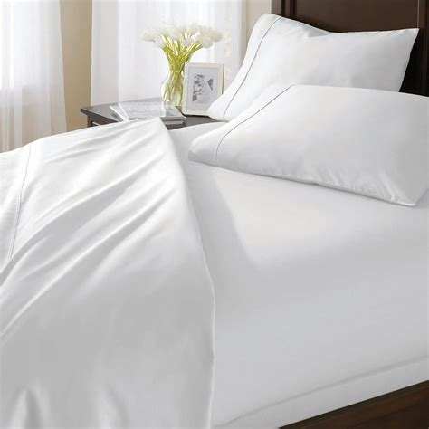 white bed sheets better homes and gardens sheets homesfeed