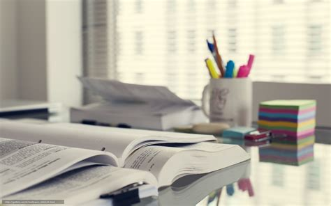 wallpaper bureau tlcharger fond d 39 ecran table lieu de travail livres