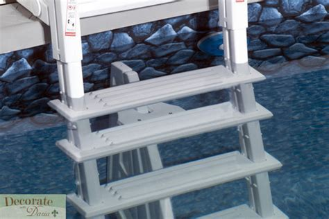 above ground pool ladder deck mounts above ground pool ladder deck mount 5 treads resin liner